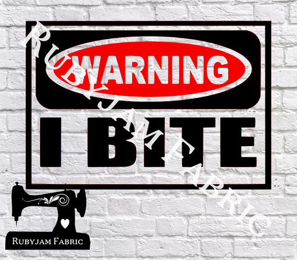 Warning I Bite - SVG/JPG/PNG