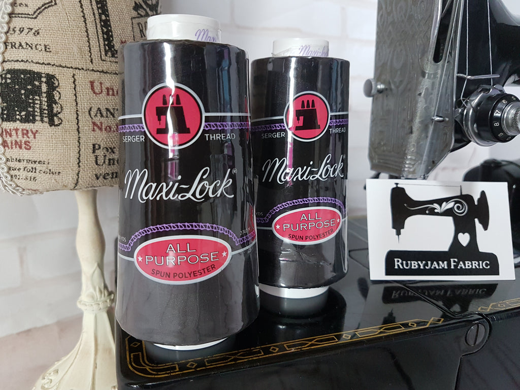 Maxi-Lock All Purpose Thread - Black