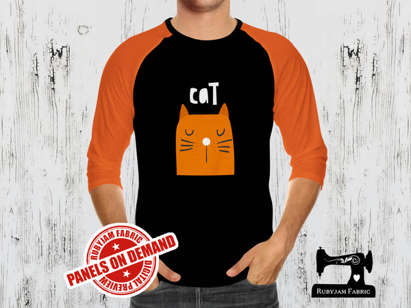 Orange Cat + Cat Butt (Two Panel Set) - BLACK - Panels On Demand