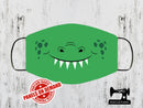 Crocodile Face Mask Panel - LIME GREEN - Panels On Demand