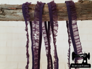 1M DEEP PURPLE Decorative Elastic Ruffle Trim (Approx 10mm wide)