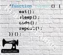 Eat Sleep Code Repeat - Cutting File - SVG/JPG/PNG