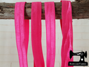 "1M Fuchsia Pink - Solid - 5/8"" (16mm) - Fold Over Elastic (FOE)"