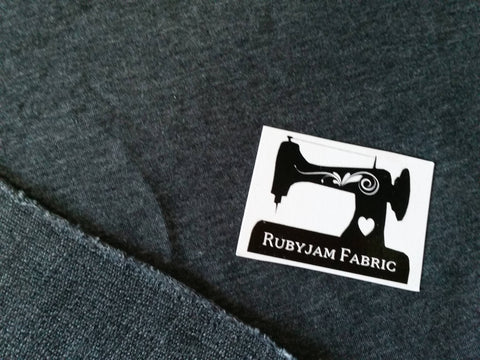 Charcoal Grey Solid - Poly Rayon Lycra - French Terry - 150cm wide