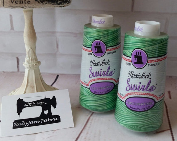 Maxi-Lock Swirls Thread - Mint Julep