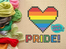 Pride Heart - Cross Stitch Pattern - Kitsch Stitch Studio
