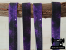 "1M Purple Galaxy - Printed - 5/8"" (16mm) - Fold Over Elastic (FOE)"