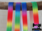 "1M Rainbow Ombre Large - Printed - 5/8"" (16mm) - Fold Over Elastic (FOE)"