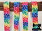 "1M Rainbow Splash - Printed - 5/8"" (16mm) - Fold Over Elastic (FOE)"