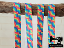 "1M Rainbows Repeat - Printed - 5/8"" (16mm) - Fold Over Elastic (FOE)"