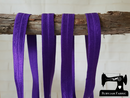 "1M Royal Purple - Solid - 5/8"" (16mm) - Fold Over Elastic (FOE)"