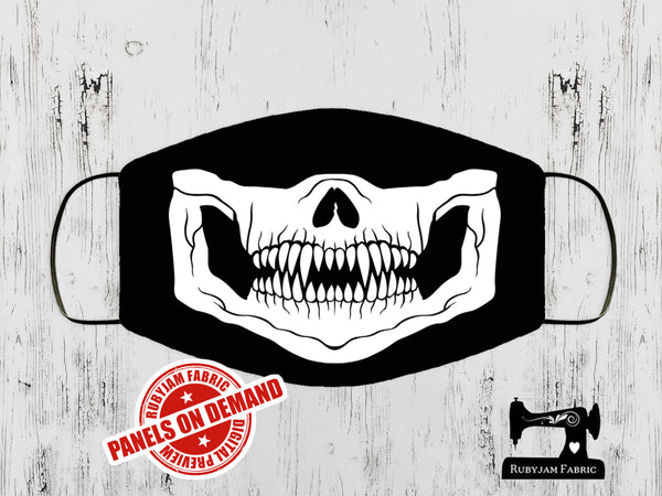 Skull Face Mask Panel - BLACK - Panels On Demand