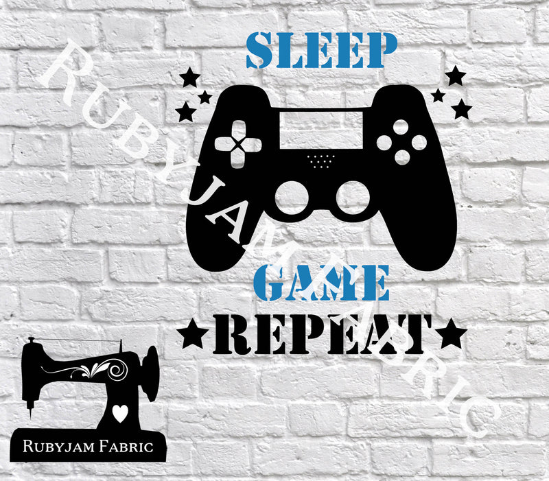 Sleep Game Repeat - Cutting File - SVG/JPG/PNG
