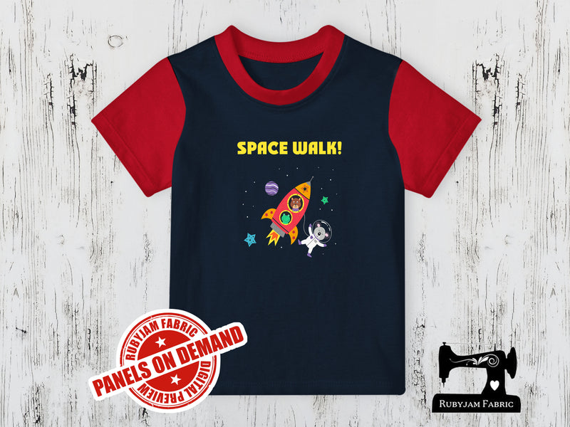 Space Walk! - Navy - Panels On Demand