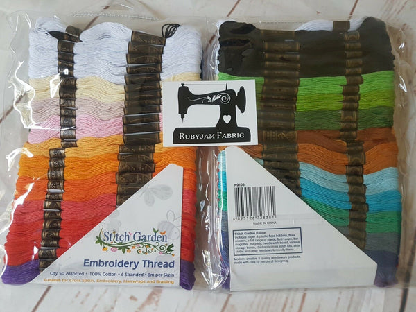 Stitch Garden, pack of 50 embroidery threads