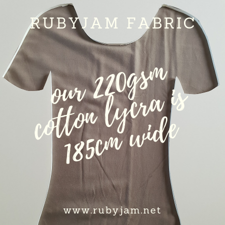 Light Grey (mushroom) - solid cotton lycra - 185cm wide - 220gsm