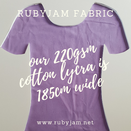 Light Purple - solid cotton lycra - 185cm wide - 220gsm