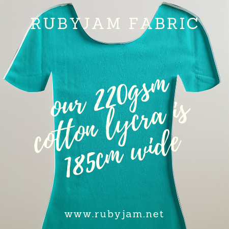 Mint Green - solid cotton lycra - 185cm wide - 220gsm