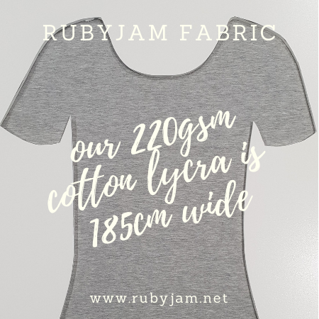 Heather Grey - solid cotton lycra - 185cm wide - 220gsm