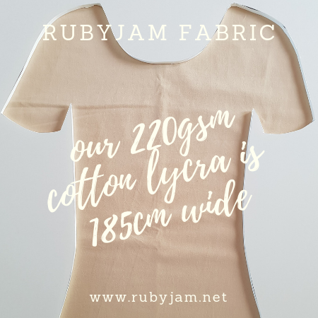 Nude Beige - solid cotton lycra - 185cm wide - 220gsm