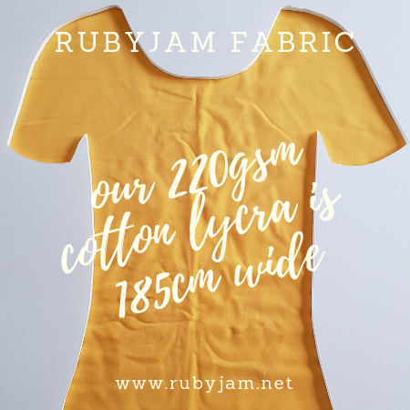 Yellow - solid cotton lycra - 185cm wide - 220gsm
