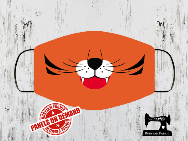 Tiger Face Mask Panel - ORANGE - Panels On Demand
