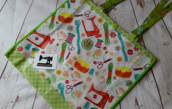 Reusable Sewing Tote Bag, Craft Class Bag - clearance