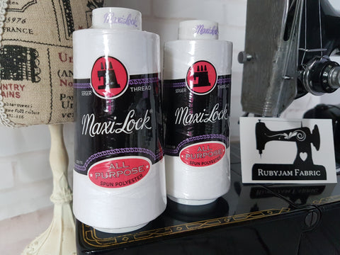 Maxi-Lock All Purpose Thread - White