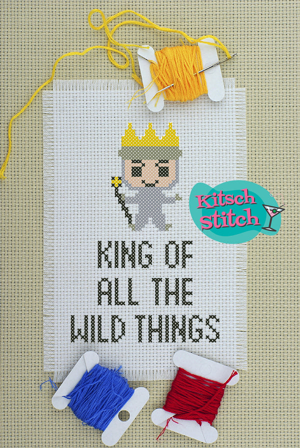 King Of All The Wild Things - Cross Stitch Pattern - Kitsch Stitch Studio