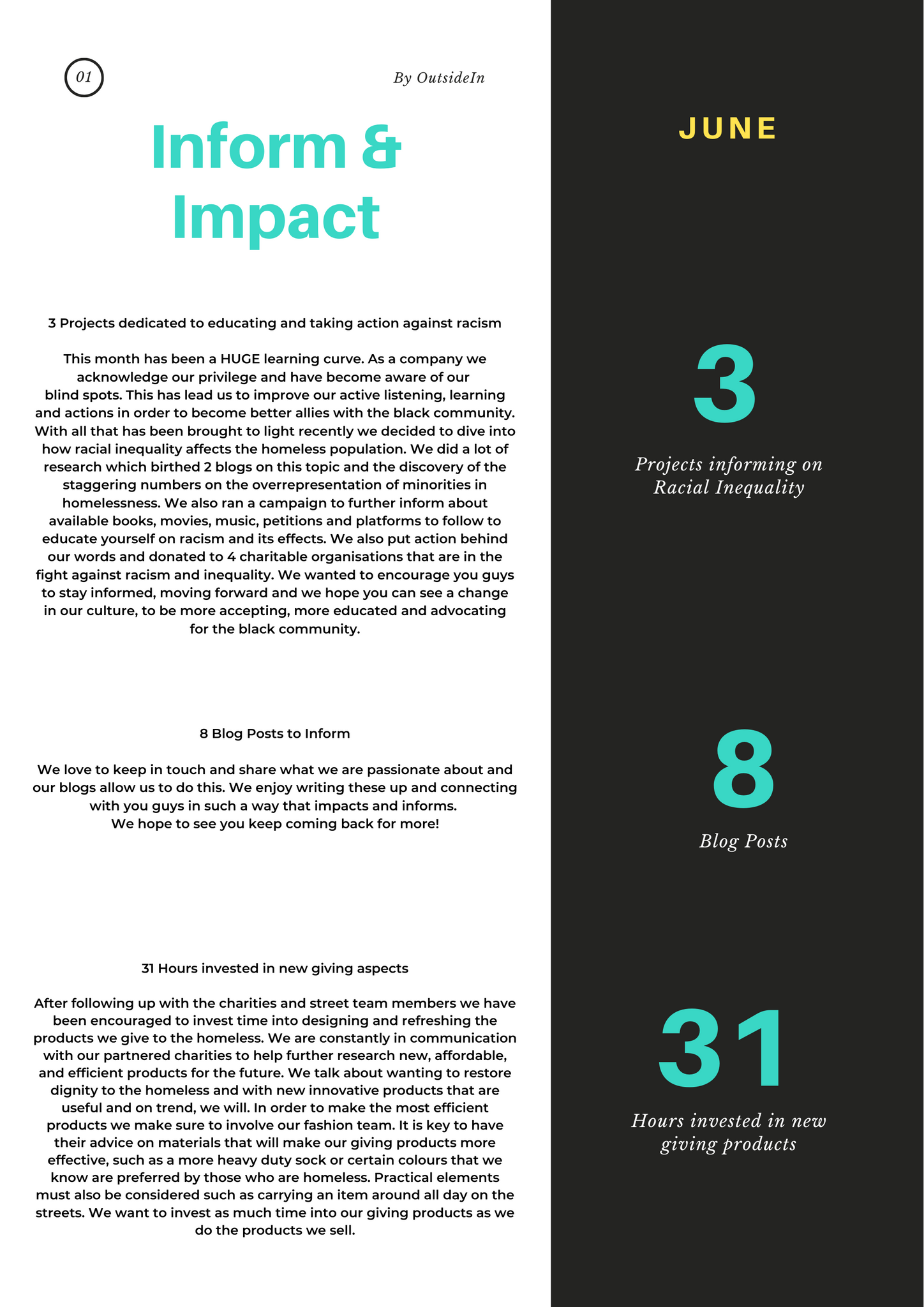 social impact report OutsideIn wear one share one june