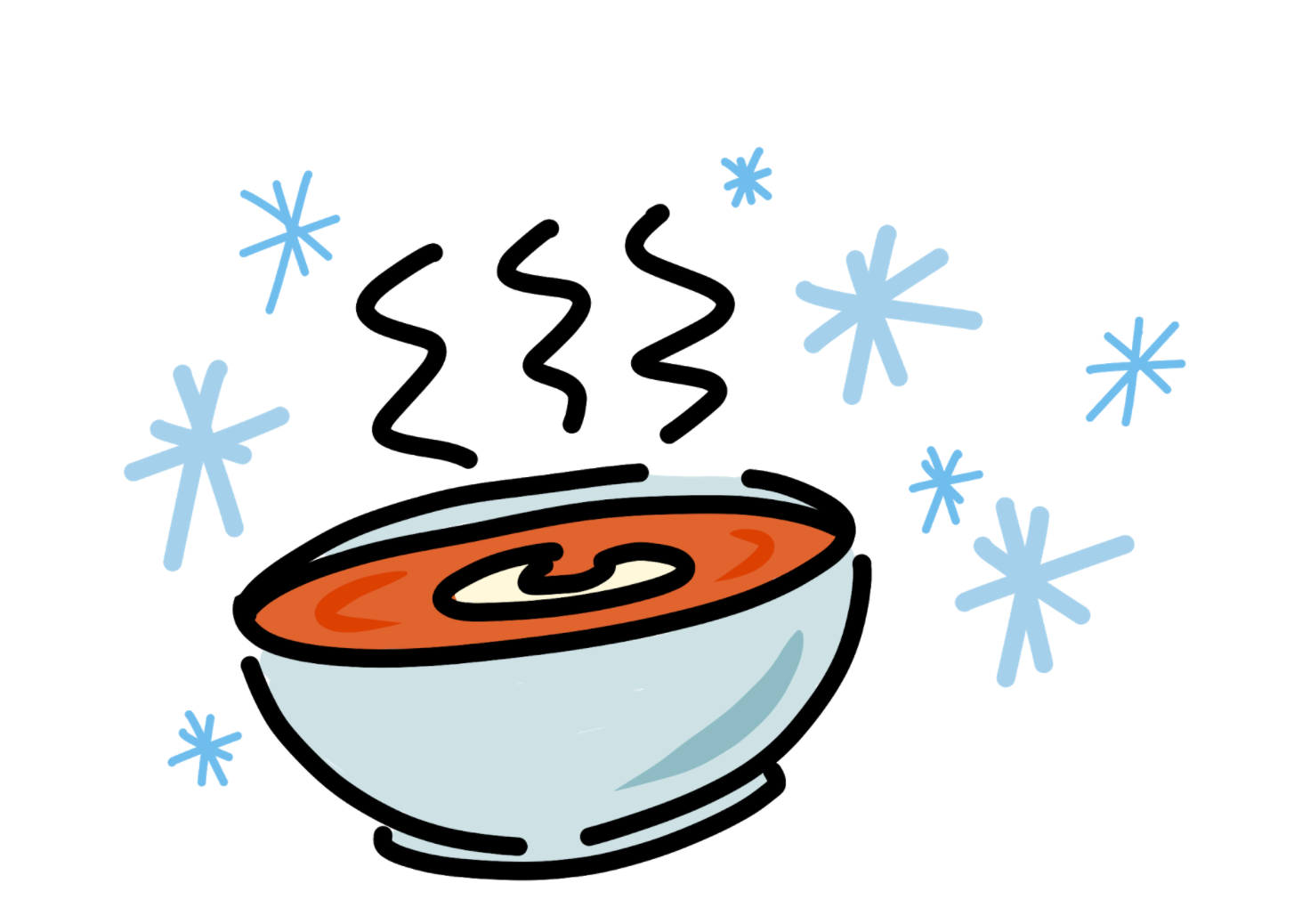 Illustration of soup for World Giving Day