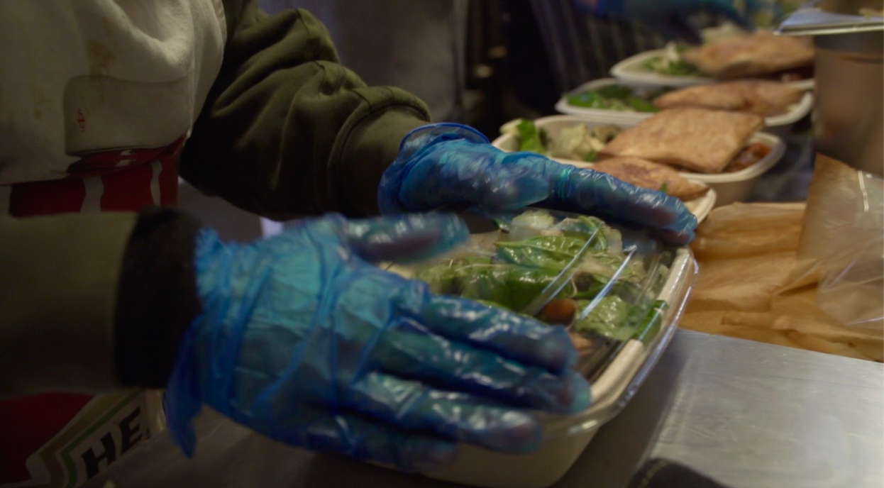 Packaged meals at The Soup Kitchen