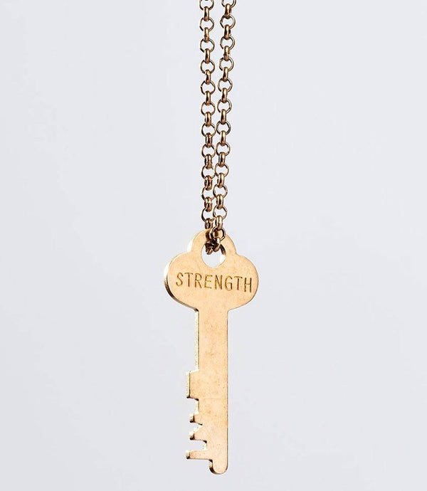Classic Gold Key Necklace