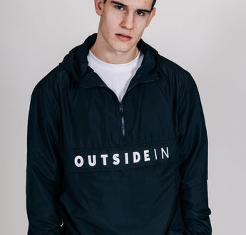 Load image into Gallery viewer, OutsideIn Black Half Zip | OutsideIn