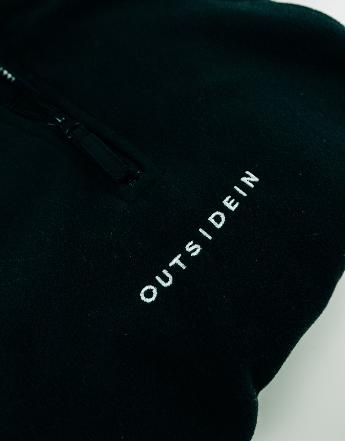 Black OutsideIn 1/4 Zip Fleece | OutsideIn