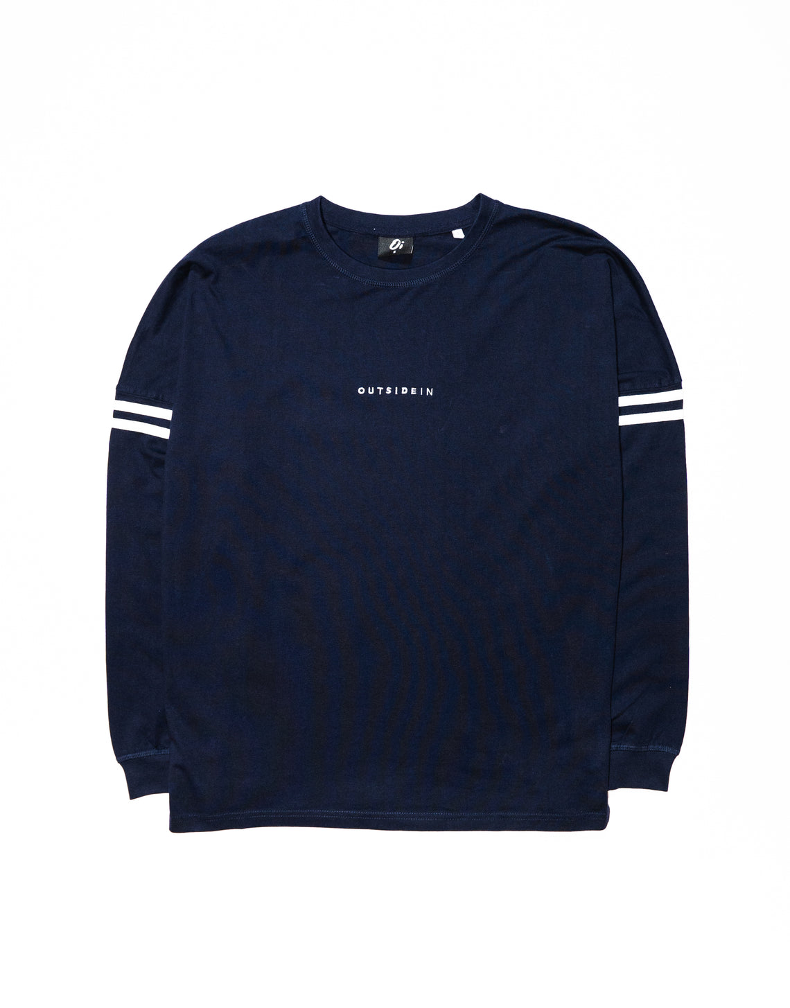 Navy Long Sleeve OutsideIn Embroidered T-shirt - OutsideIn