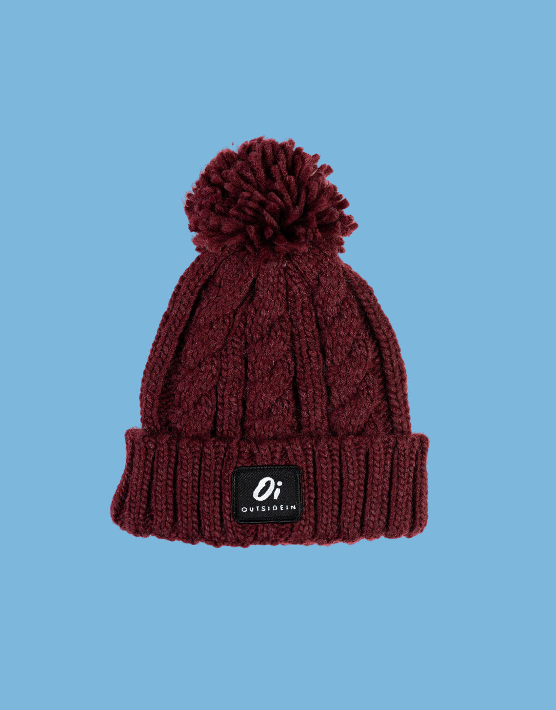 Kids Burgundy Pom-Pom - OutsideIn