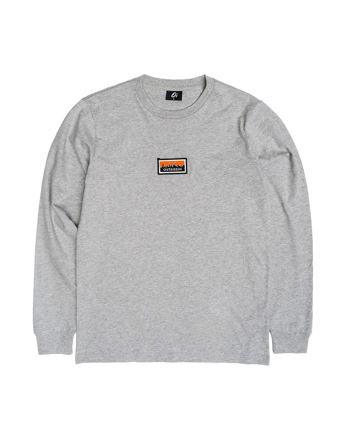 Cityscape Long Sleeve T-Shirt Grey - OutsideIn