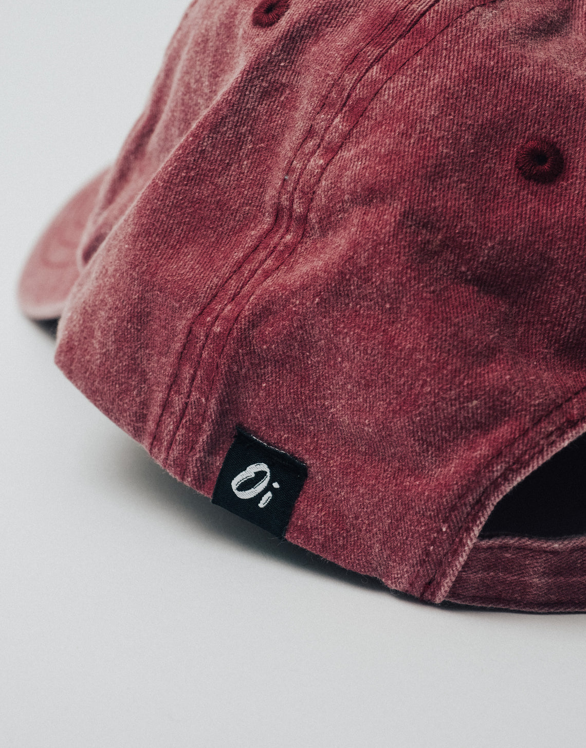 Washed Red OutsideIn Dad Cap