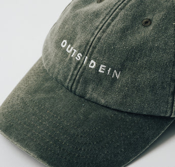 Load image into Gallery viewer, Washed Olive OutsideIn Dad Cap