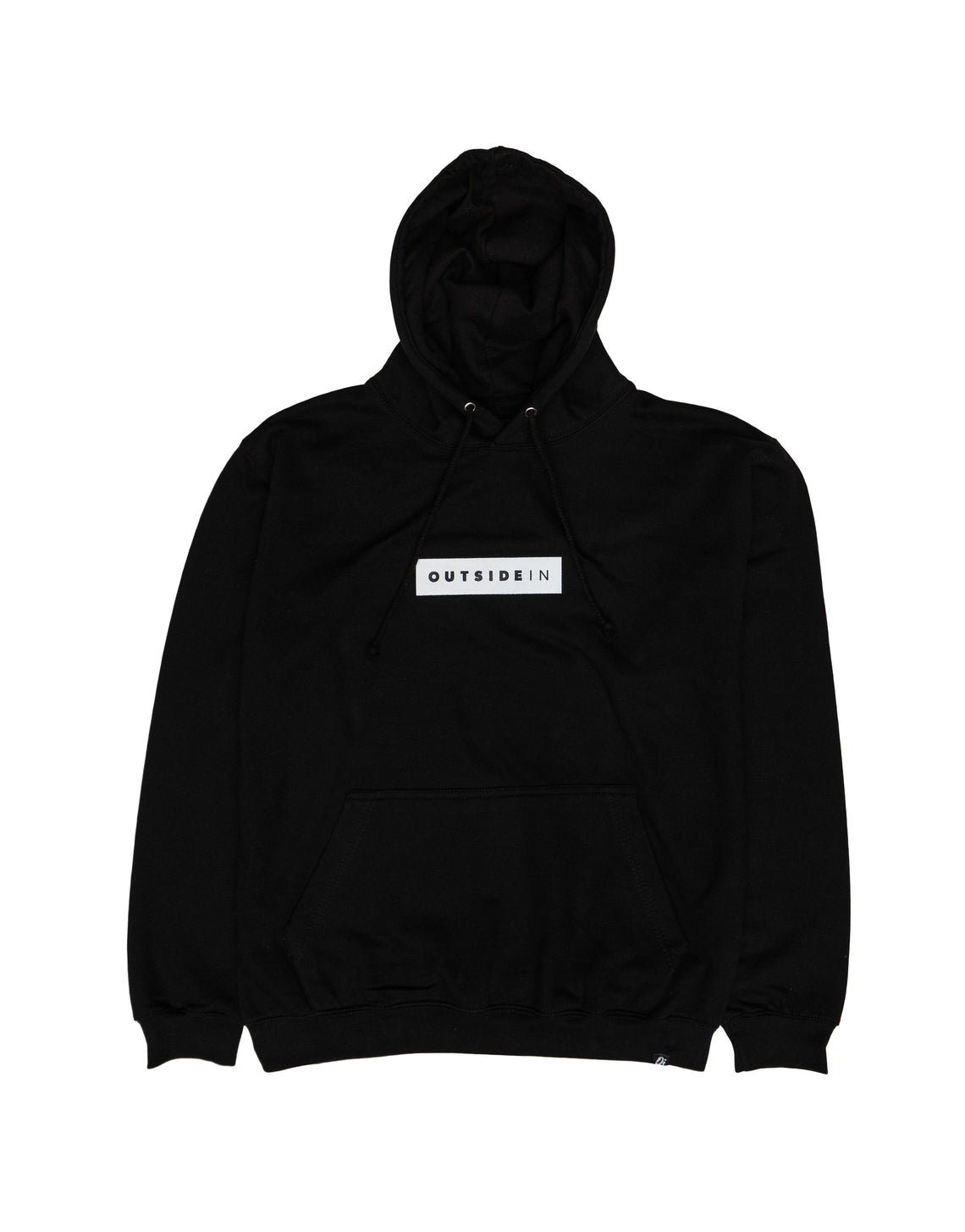 Essential Black Block Hoodie - OutsideIn