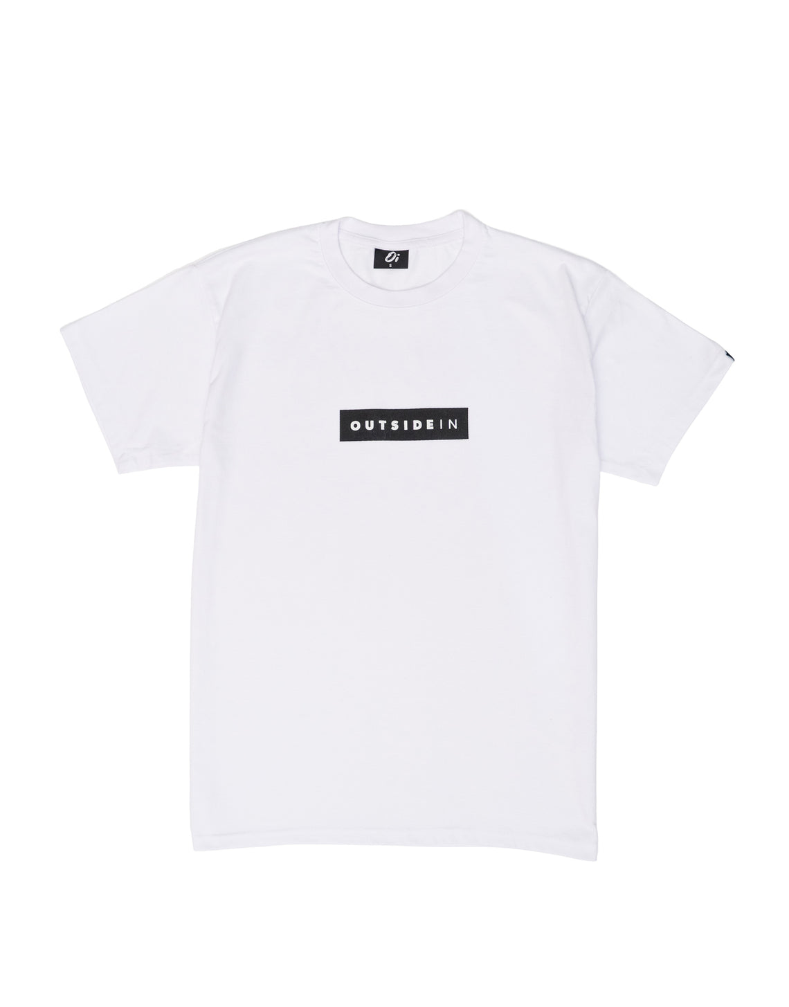 Essential White Block T-Shirt - OutsideIn