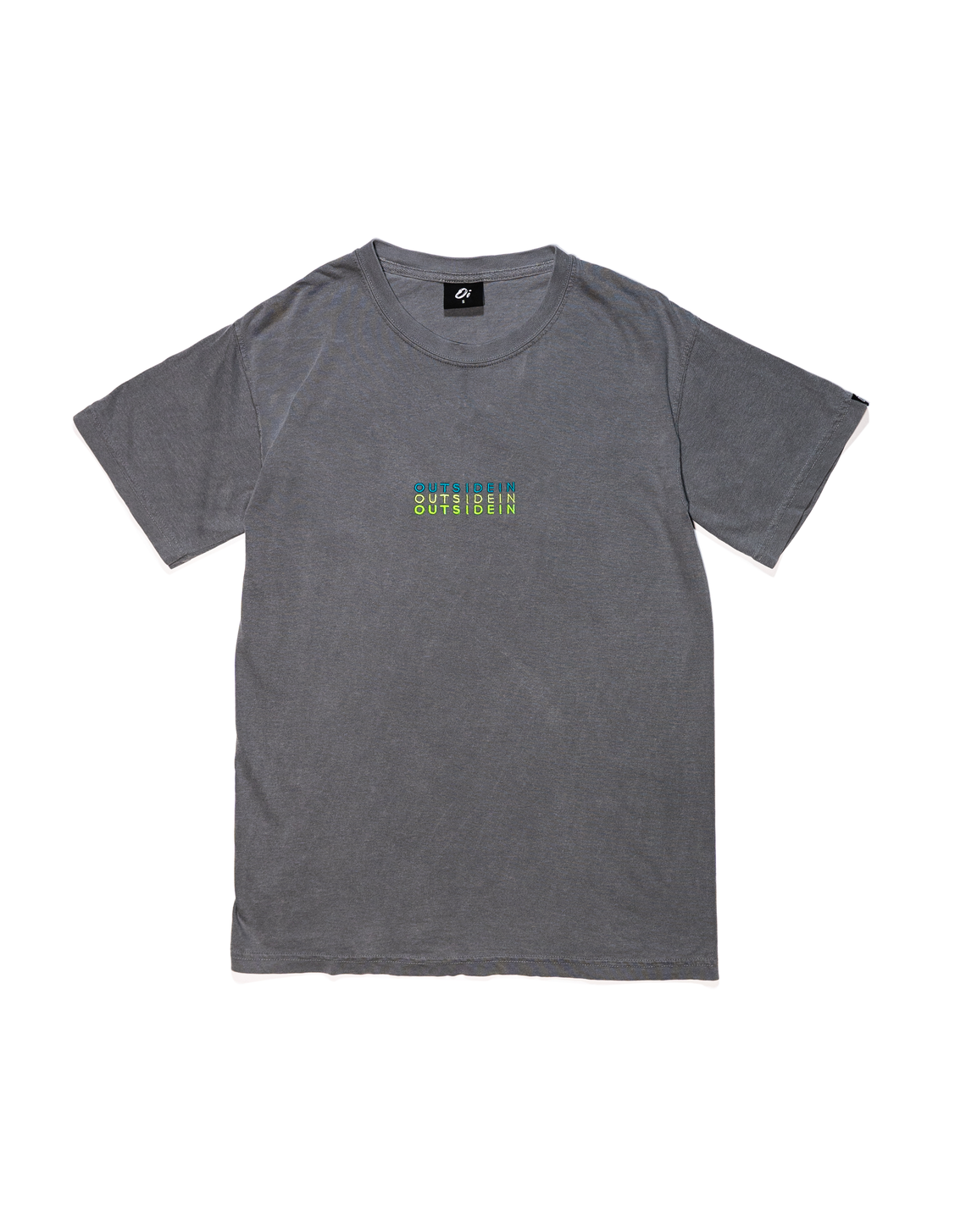 Grey OutsideIn Embroidered T-shirt - OutsideIn