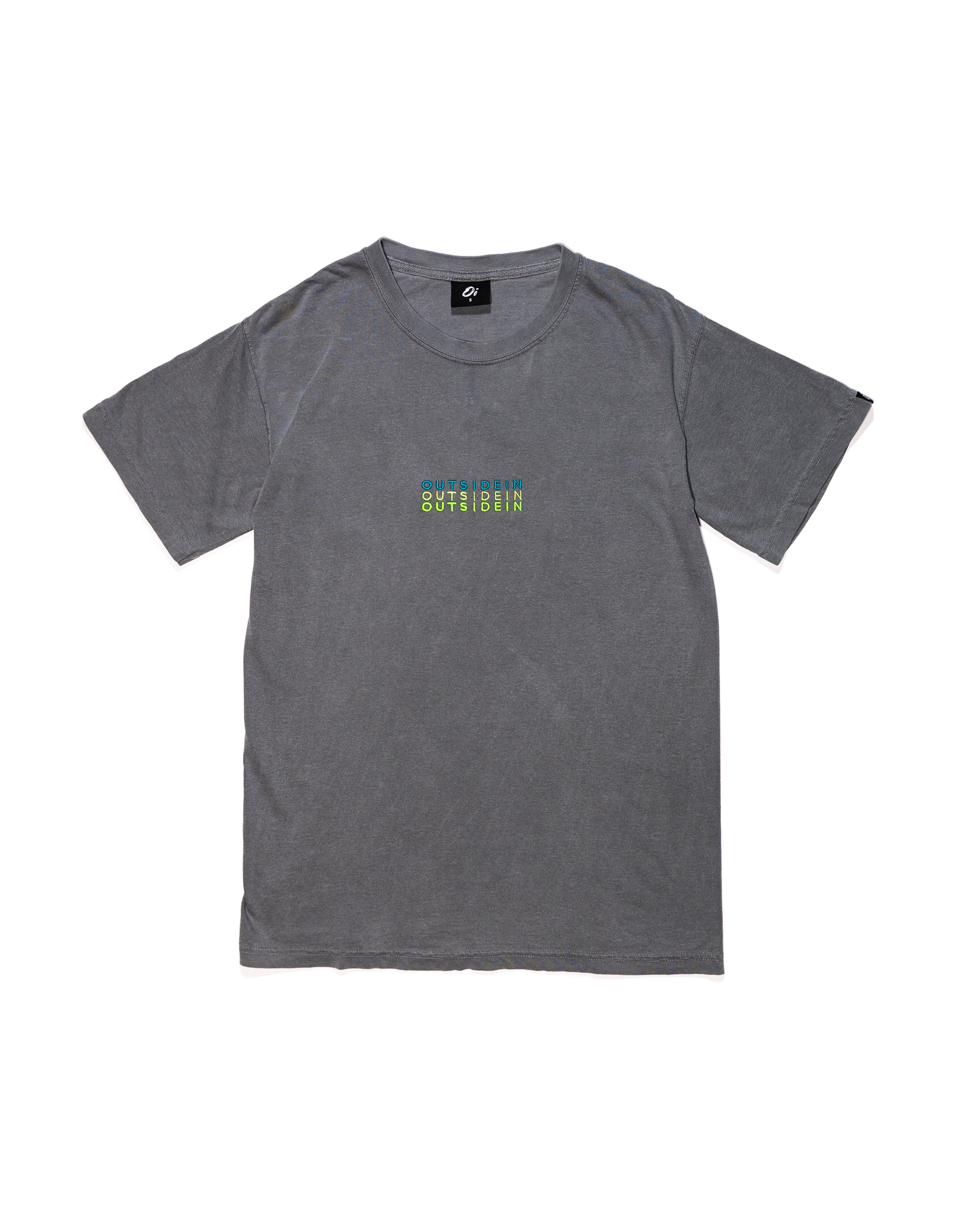 Grey OutsideIn Embroidered T-shirt | OutsideIn