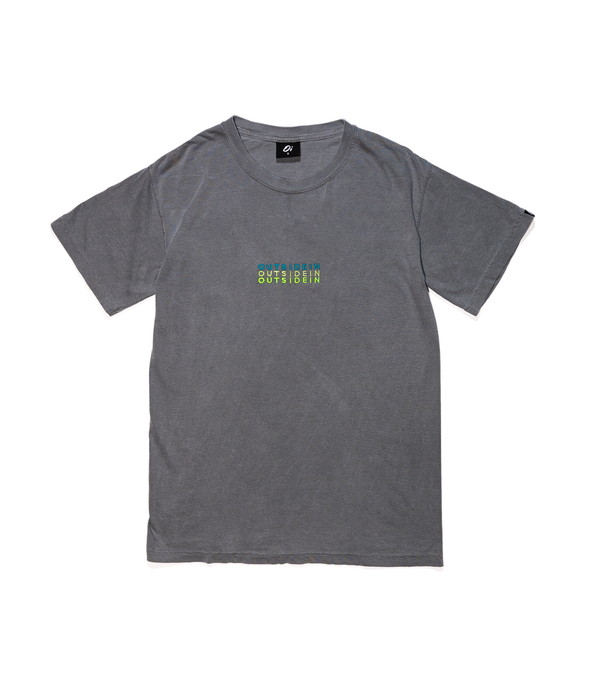 Grey OutsideIn Embroidered T-shirt