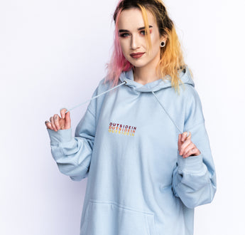 Load image into Gallery viewer, Pastel Blue OutsideIn Hoodie | OutsideIn