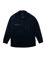 Navy Pocket Oversized Fleece