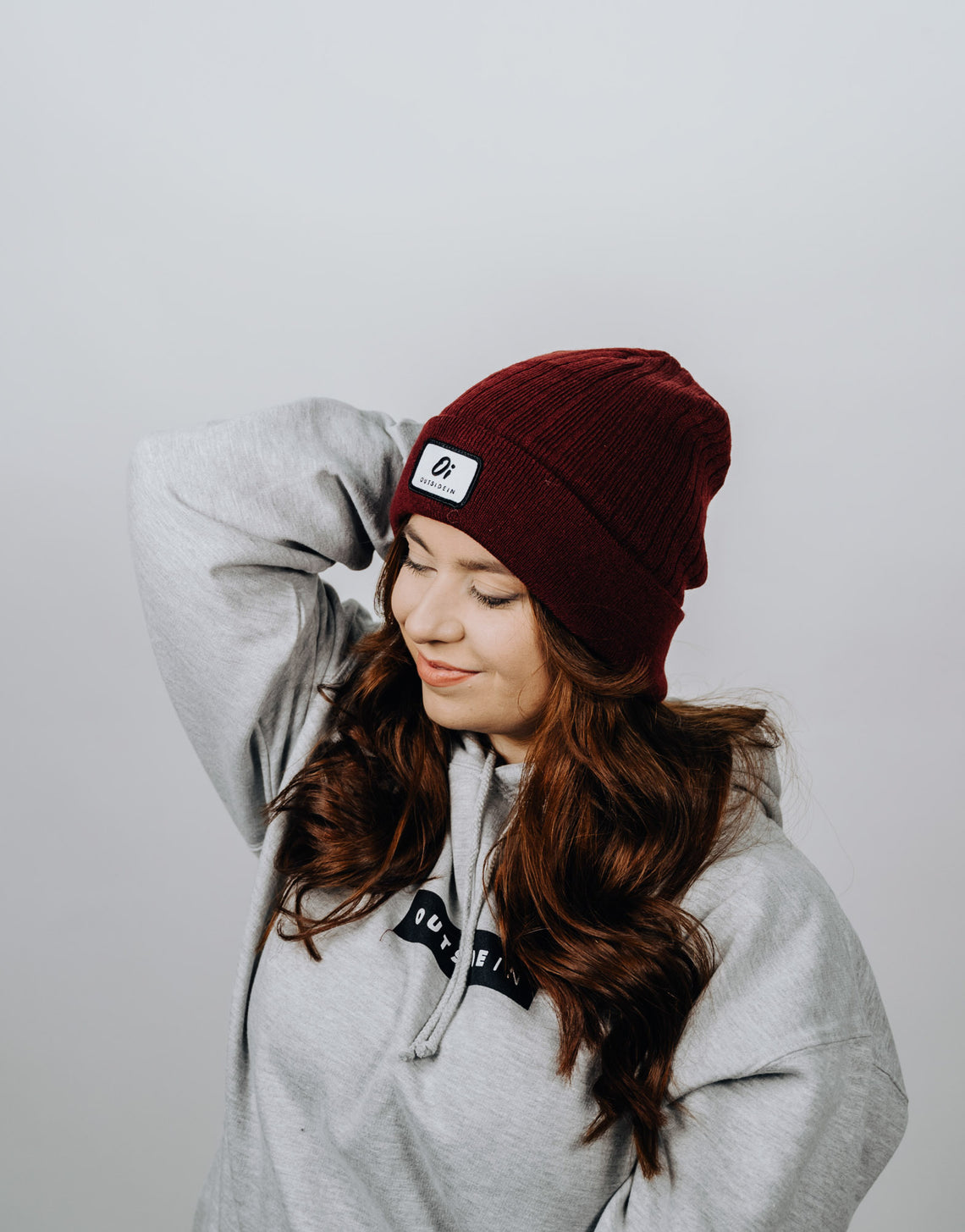 Burgundy Thermal Beanie