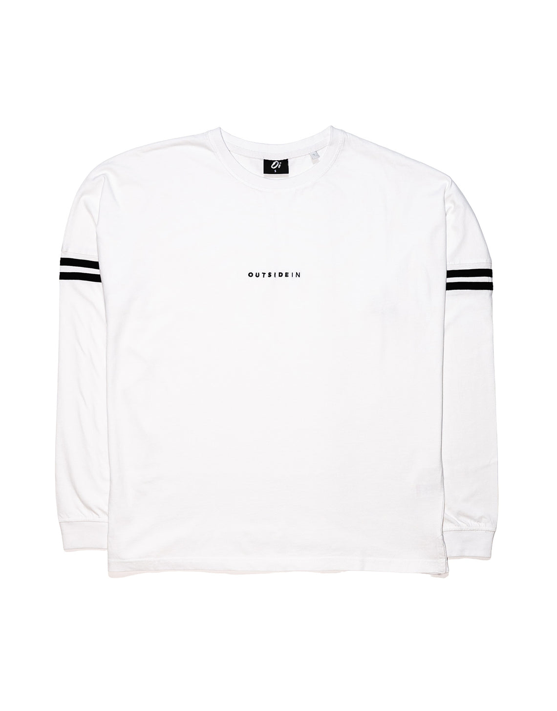 White Long-Sleeve OutsideIn Embroidered T-shirt - OutsideIn