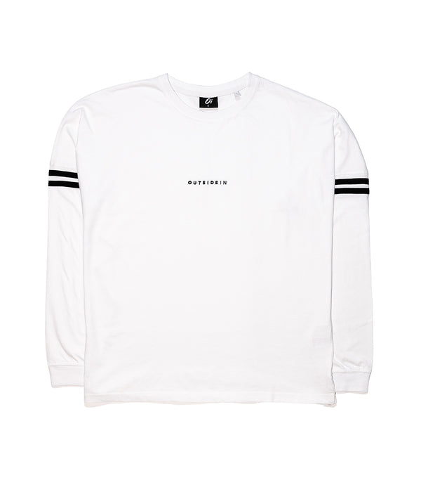 White Long-Sleeve OutsideIn Embroidered T-shirt